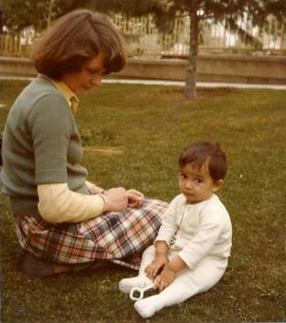 Farideh and her Dutch mother in Tehran's Nursery- 1977